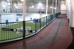 Wellness Center: 1/10 mile indoor suspended track