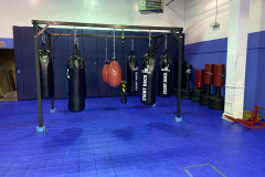 Fitness: Blue Studio:  4,000 sq. ft. home to cycling classes, Rock Steady Boxing for people with Parkinson's disease and other group fitness opportunities