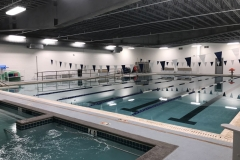 Pool: 25-yard, six-lane, zero-depth access ramp pool and hydrotherapy pool