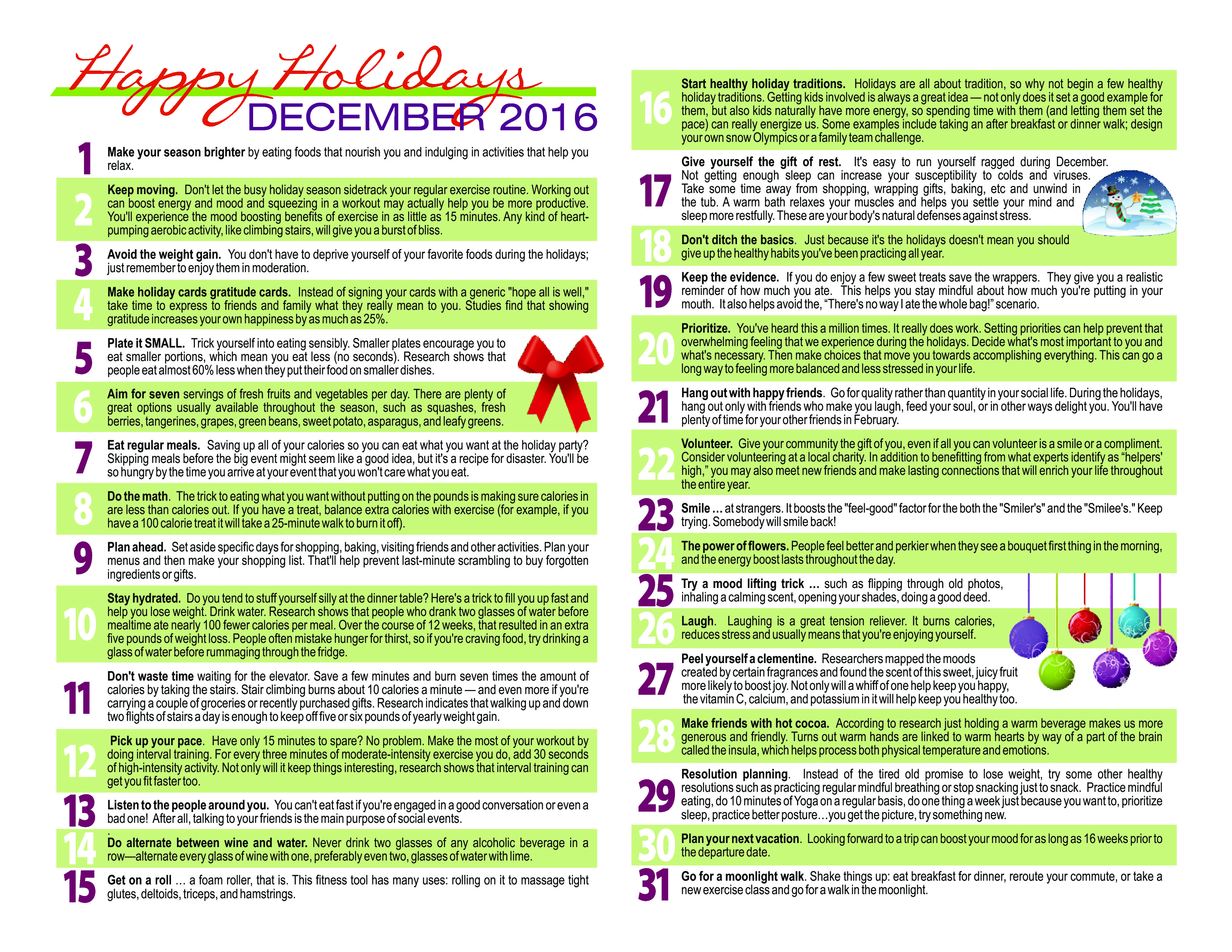 Holiday wellness calendar 2016 page 1 body zone sports and holiday wellness calendar 2016 page 1 solutioingenieria Gallery